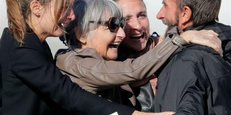 Les quatre ex-otages sont arrivés à Paris