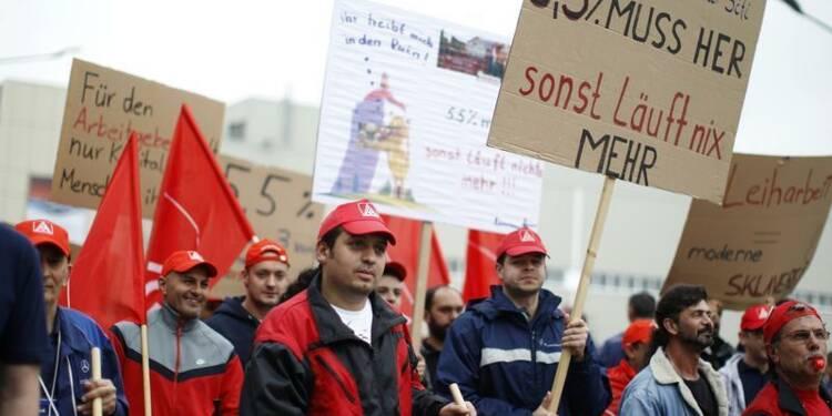 Près de 50.000 salariés allemands en grève, selon IG Metall