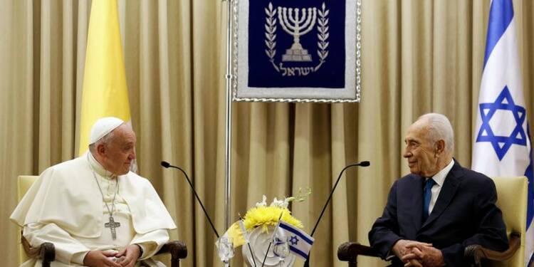 Shimon Peres et Mahmoud Abbas au Vatican le 8 juin