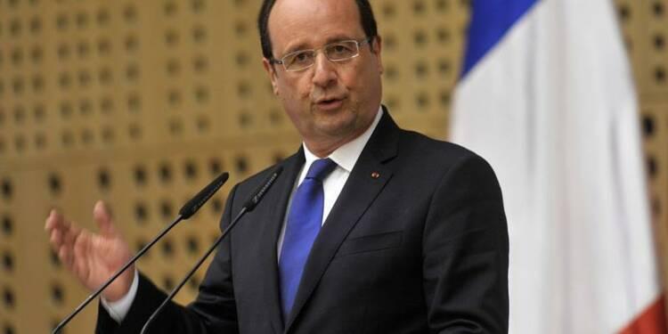 """""""Quelque chose se passe dans l'économie"""", dit François Hollande"""