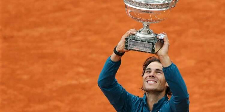 Roland-Garros: Rafael Nadal s'impose pour la huitième fois