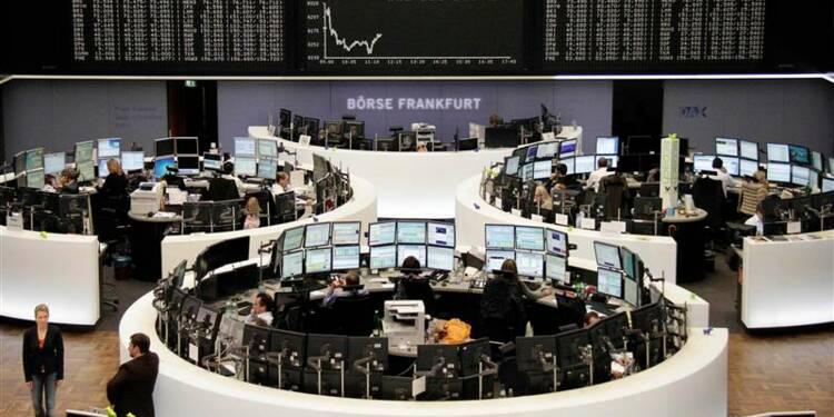Repli limité des Bourses européennes à la mi-séance