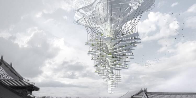 Des jardins volants au-dessus de pékin