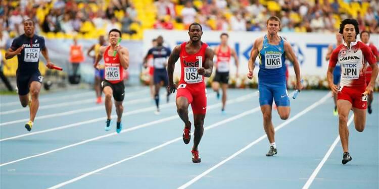 Athlétisme: les Français éliminés sur 4x100 mètres