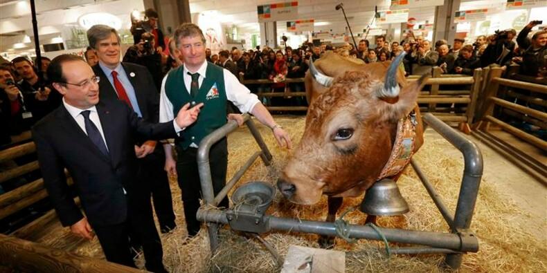 Hollande inaugure dans le calme le Salon de l'agriculture