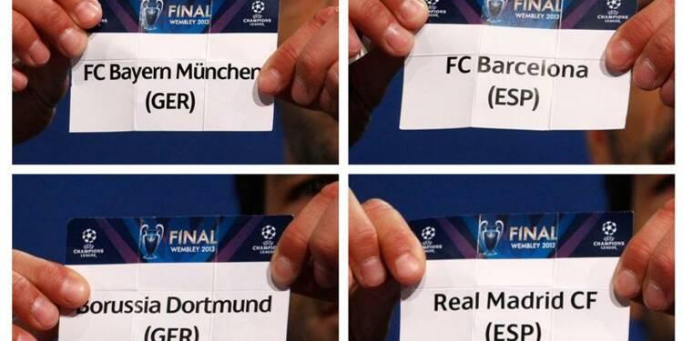 Ligue des champions: Bayern-Barça, Dortmund-Real en demi-finales