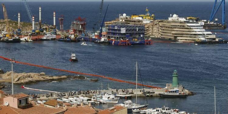 Le Costa Concordia devrait quitter l'île du Giglio en juin