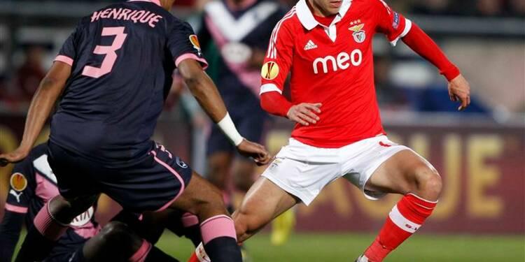 Ligue Europa: Bordeaux éliminé par le Benfica Lisbonne