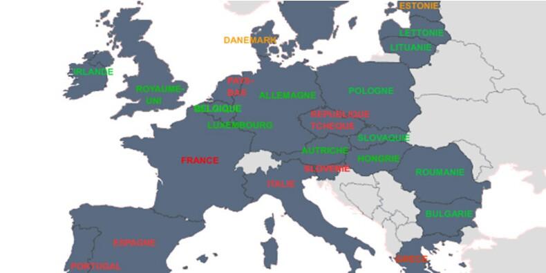 Les pays européens en récession… et ceux qui risquent d'y plonger