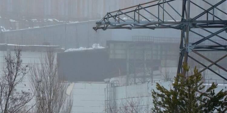 Evacuation par précaution après un effondrement à Tchernobyl