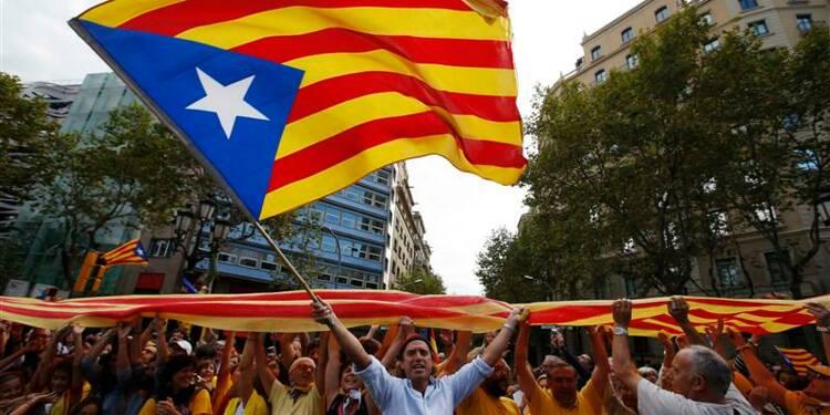 Chaîne humaine pour un référendum sur la Catalogne