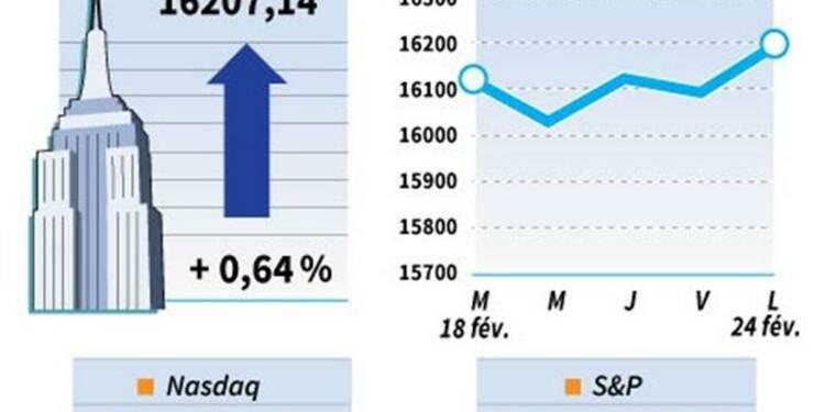 Wall Street finit en hausse avec les fusions-acquisitions