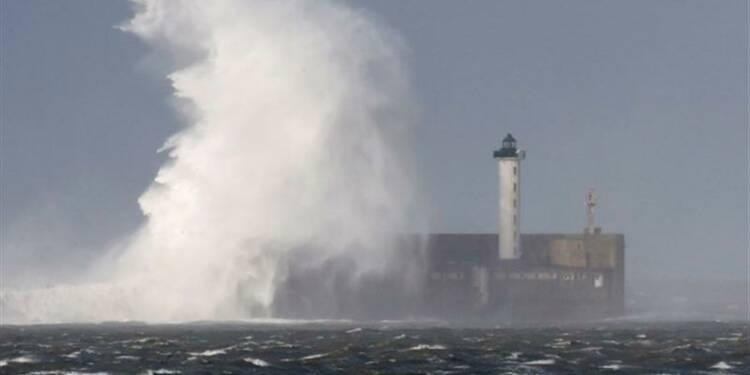 Forte tempête automnale en France et en Grande-Bretagne
