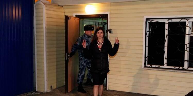 "Maria Aliokhina, membre des ""Pussy Riot"", libérée en Russie"