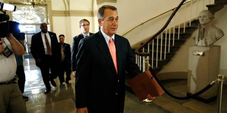 """Les Etats-Unis """"sur la voie du défaut"""", prévient John Boehner"""