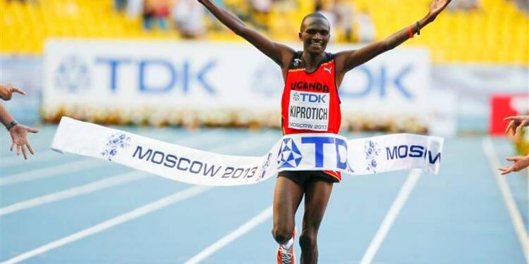 Athlétisme: Kiprotich sacré champion du monde du marathon