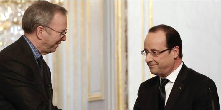 Le Big Boss de Google n'a fait qu'une bouchée de Hollande