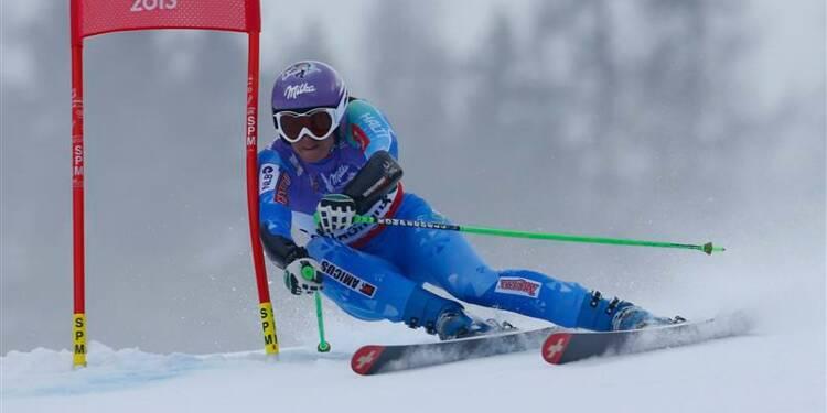 Ski: Tina Maze championne du monde de Super-G
