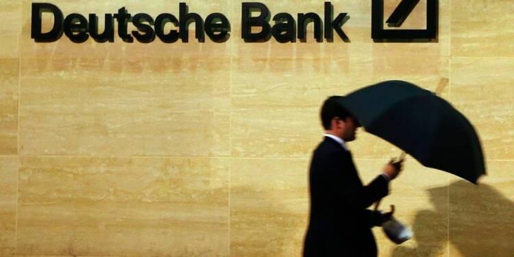 Deutsche Bank craint l'impact des amendes sur ses ratios