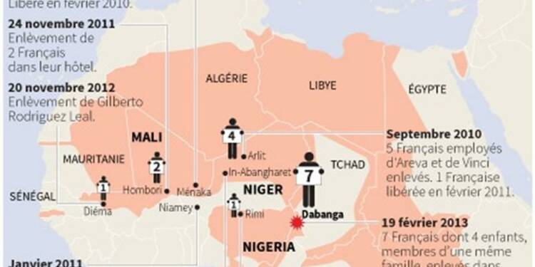 Les otages français en Afrique sont vivants, estime Le Drian