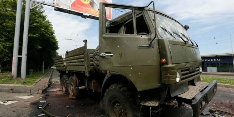 Une quarantaine de morts dans les combats de Donetsk