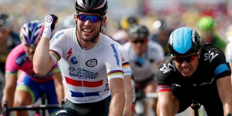 Tour de France: Mark Cavendish remporte la 5e étape