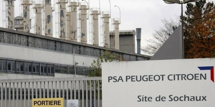 Débrayage à l'usine PSA de Sochaux