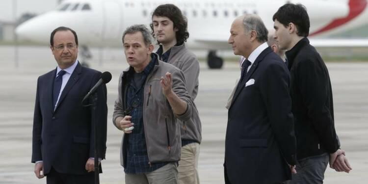 Libération des quatre journalistes français otages en Syrie