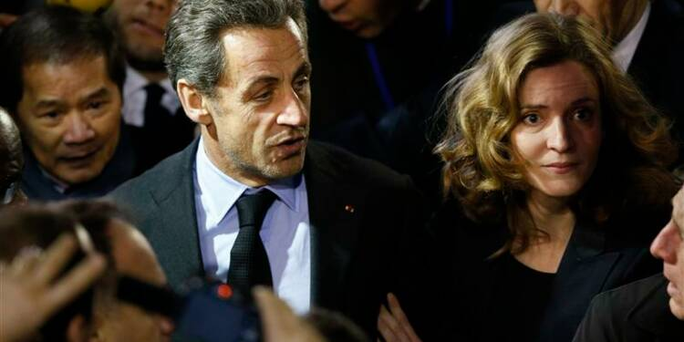 Nicolas Sarkozy assiste à un meeting de NKM à Paris