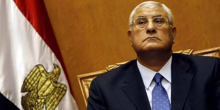 Mansour prête serment en tant que président égyptien par intérim