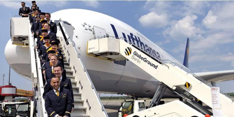 Management de haut vol avec un équipage de la Lufthansa