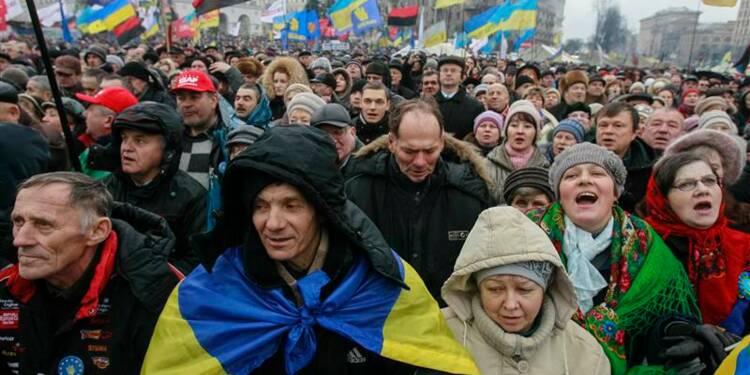 Grande manifestation anti-Ianoukovitch à Kiev