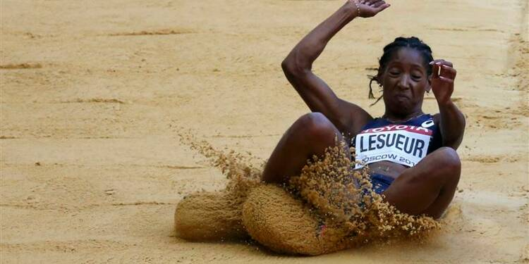 Athlétisme: Eloyse Lesueur éliminée à la longueur