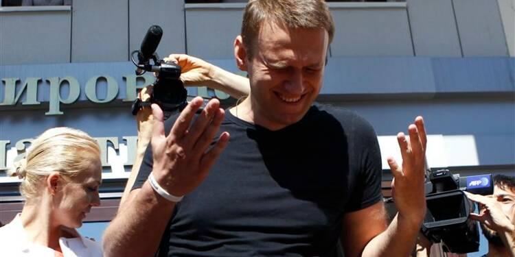 L'opposant russe Alexeï Navalny a été libéré provisoirement