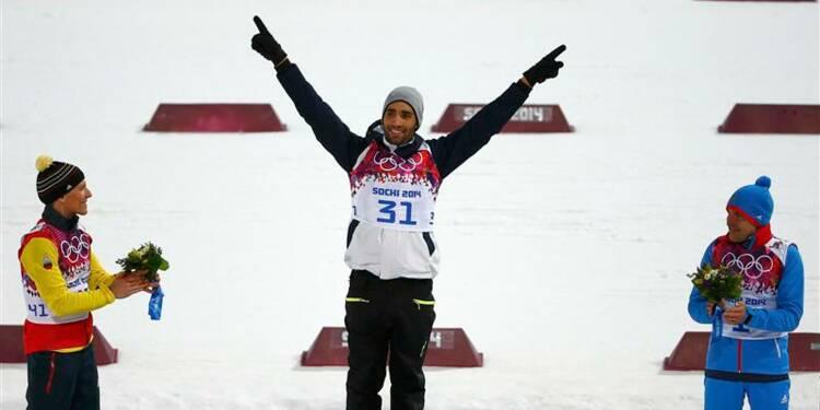 JO: deuxième titre pour Martin Fourcade en biathlon