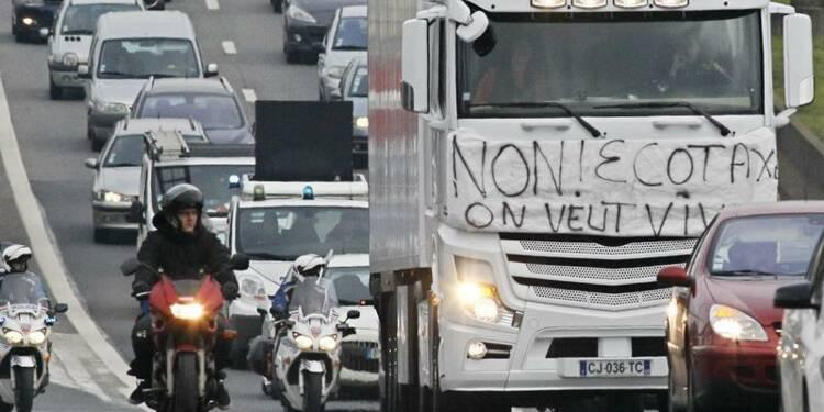 Nouvelle mobilisation des routiers contre l'écotaxe  samedi