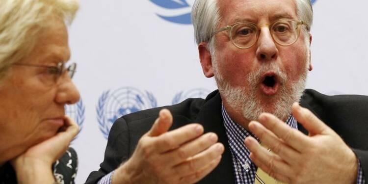 Syrie: l'Onu a des motifs de croire à l'emploi d'armes chimiques