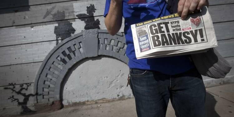Le mystérieux artiste de rue Banksy sévit à New York