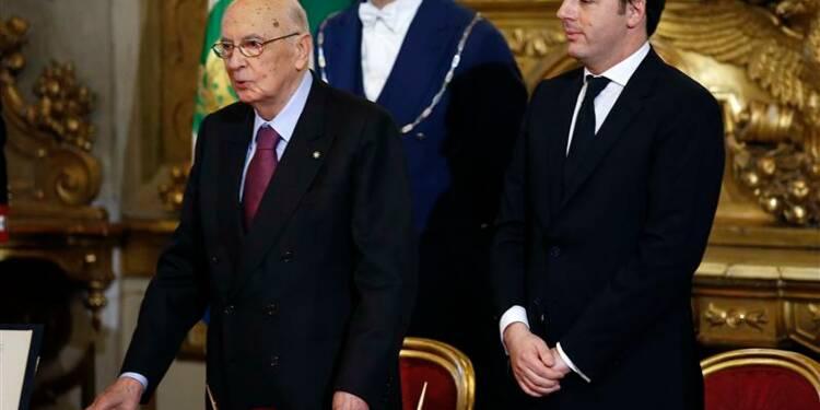 Matteo Renzi investi président du Conseil italien