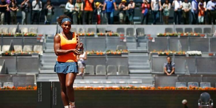 Tennis: Serena Williams s'impose à Madrid et reste n°1 mondiale