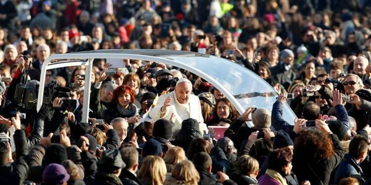 Le pape a attiré six millions de personnes au Vatican en 2013