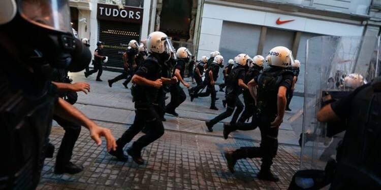 La police intervient à nouveau près du parc Gezi à Istanbul