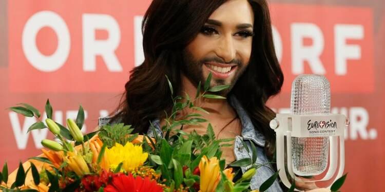 Eurovision: Conchita Wurst salue sa victoire contre l'intolérance