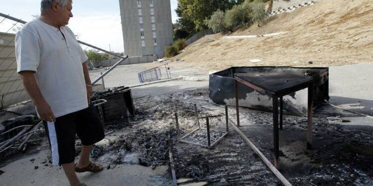 Un campement de Roms détruit par un incendie à Marseille