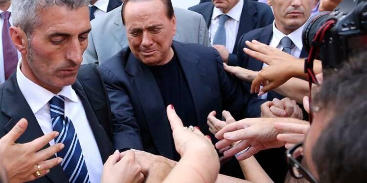 Manifestation de partisans de Silvio Berlusconi à Rome