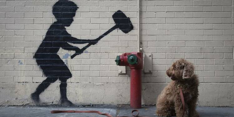 Des graffitis new-yorkais de l'artiste Banksy vont être vendus