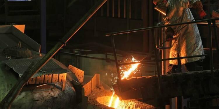 Hausse de la production industrielle en zone euro