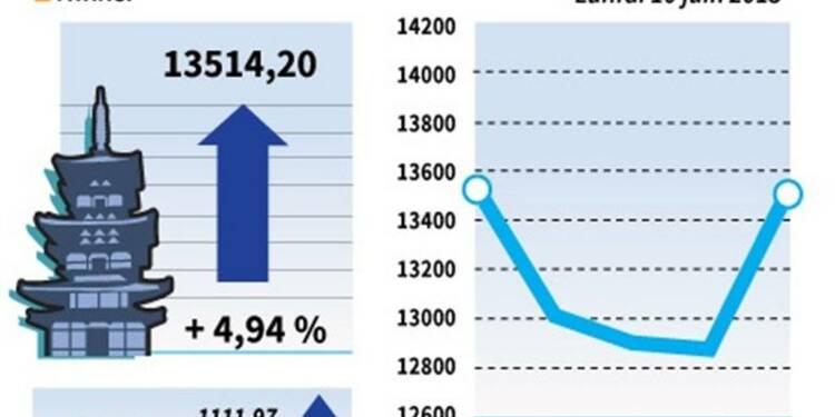 La Bourse de Tokyo finit en hausse de 4,94%