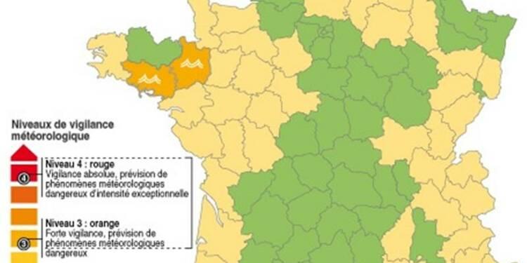 Trois départements toujours en vigilance orange