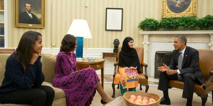 Malala reçue par les Obama à la Maison blanche